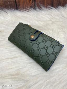 Stylish Women's Green Leather Wallet