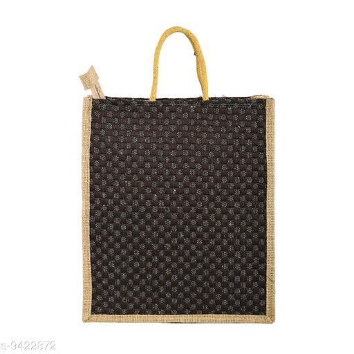 Fair Crafts Multicolor Casual Unisex Jute Lunch Bag