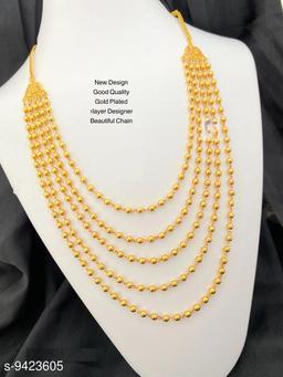 WOMEN 'S MICRO GOLD PLATED 5 LAYERD CHAIN