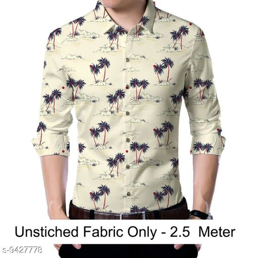 Shirts  Men shirt Fabric(Untiched)  *Fabric* Rayon  *Pattern* Printed  *Multipack* 1  *Sizes*   *Sizes Available* 2.5m *    Catalog Name: Urbane Partywear Men Shirt Fabric CatalogID_1655724 C59-SC1174 Code: 186-9427778-
