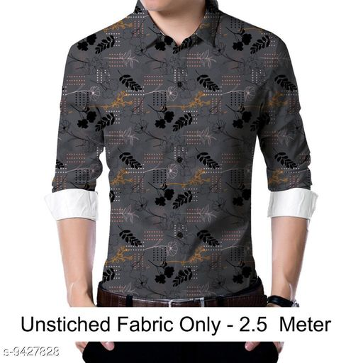 Active Tshirts  Men shirt Fabric(Untiched)  *Fabric* Rayon  *Pattern* Printed  *Multipack* 1  *Sizes*   *Sizes Available* 2.5m *    Catalog Name: Trendy Graceful Men Shirt Fabric CatalogID_1655737 C70-SC1403 Code: 186-9427828-