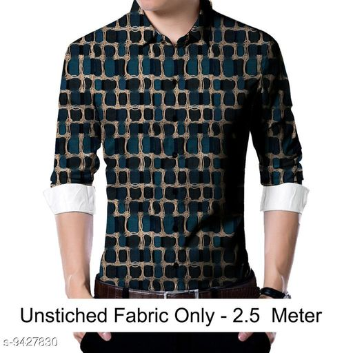 Active Tshirts  Men shirt Fabric(Untiched)  *Fabric* Rayon  *Pattern* Printed  *Multipack* 1  *Sizes*   *Sizes Available* 2.5m *    Catalog Name: Trendy Graceful Men Shirt Fabric CatalogID_1655737 C70-SC1403 Code: 186-9427830-