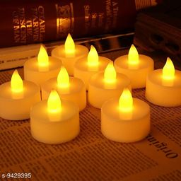 Mr Brand Creation LED Tea Light Candles for Home Decor & Diwali Lights for Decoration Yellow Diwali Light/Diwali Lights and Decorations/Diwali Light also Pooja Light (Multicolor) (Pack of 12)