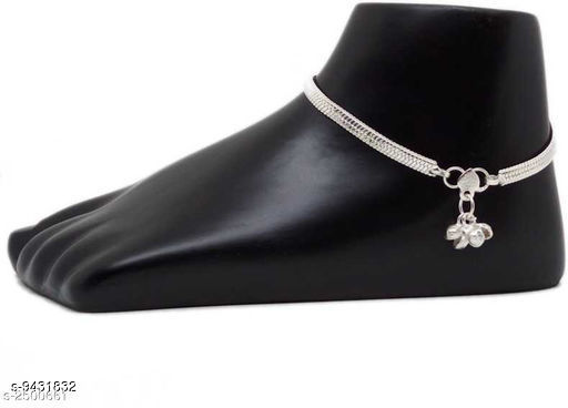 Anklets & Toe Rings  Alloy Women's Anklet's   *Plating* Silver Plated  *Sizes*   *Sizes Available* Free Size *    Catalog Name: Sizzling Fancy Women Anklets & Toe Rings CatalogID_1656548 C77-SC1098 Code: 041-9431832-