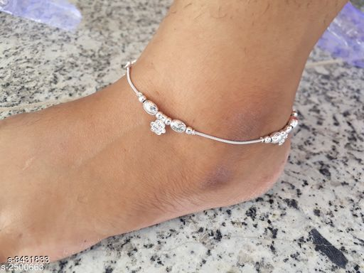 Anklets & Toe Rings  Alloy Women's Anklet's   *Base Metal* Silver  *Plating* Silver Plated  *Sizes*   *Sizes Available* Free Size *    Catalog Name: Sizzling Fancy Women Anklets & Toe Rings CatalogID_1656548 C77-SC1098 Code: 041-9431833-