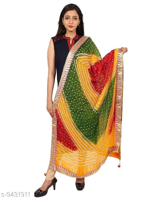 Rajasthani Art Silk Bandhej Women's Dupatta