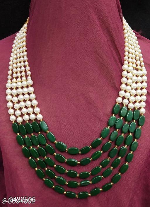 Five Line Color Beads Necklace