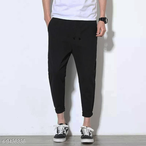 Fashcart Black Trouser For Men