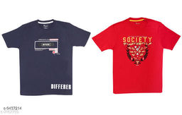 Kid's Cotton T-Shirts Combo(Pack of 2)