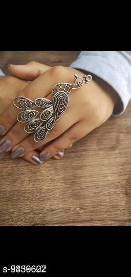 Oxidised Silver Elite Bejeweled Rings