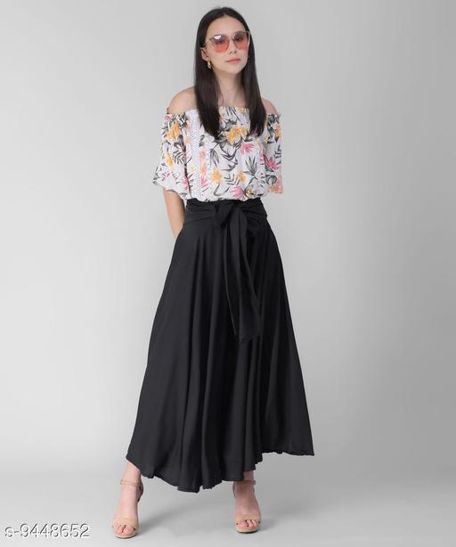 Mid Night Black Women's Skirt