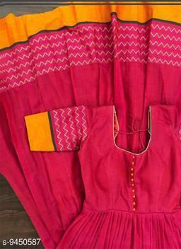 Dark Magenta Colored Partywear Printed Less Satin Silk Trendy Gown