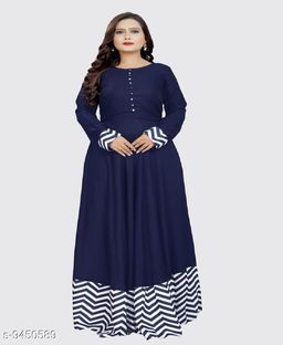 Awesome Blue Rayon Gown