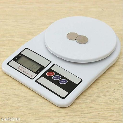 Others Kitchen & Table - Kitchen Tools Multipurpose 1gm to 10kg Electronic Kitchen Weighing Scale (White) Weighing Scale Kitchen & Table - Kitchen Tools Multipurpose 1gm to 10kg Electronic Kitchen Weighing Scale (White) Weighing Scale  *Material* ABS Plastic  *Height* 1.5  * Length* 10  *Breadth* 14  *Sizes Available* Free Size *    Catalog Name: Kitchen & Table - Kitchen Tools Multipurpose 1gm to 10kg Electronic Kitchen Weighing Scale (White) Weighing Scale CatalogID_1661716 C80-SC1256 Code: 075-9453101-