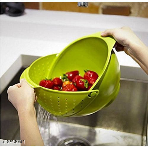 Other Multicolor Plastic Vegetable Fruits Pulses Washing Bowl and Strainer (Big)  *Material* Plastic  *Pack* Pack of 1  *Sizes Available* Free Size *    Catalog Name: Fancy Washing Bowl CatalogID_1663341 C103-SC1807 Code: 162-9459711-