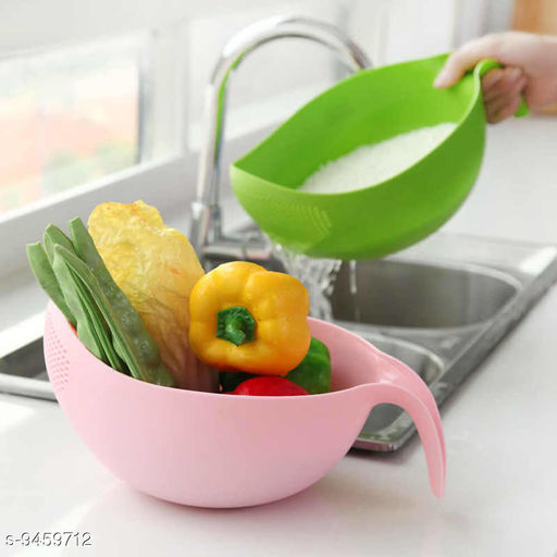 Other Multicolor Plastic Vegetable Fruits Pulses Washing Bowl and Strainer (Big)  *Material* Plastic  *Pack* Pack of 1  *Sizes Available* Free Size *    Catalog Name: Fancy Washing Bowl CatalogID_1663341 C103-SC1807 Code: 152-9459712-