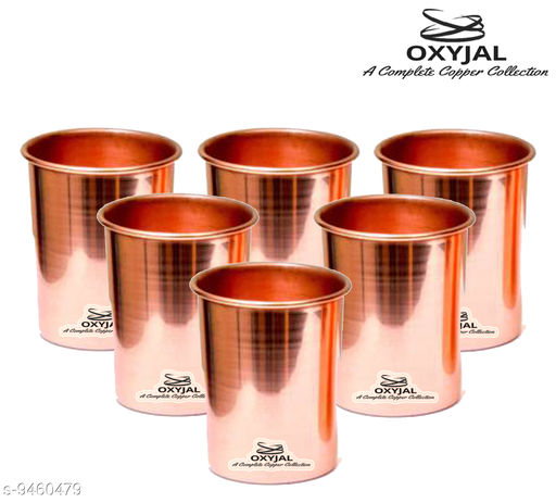 Oxyjal Pure Copper Glass For Water Ayurvedic Health Benefits Tamba Metal Luxirious Glasses 300 ML