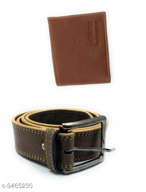 COMBO OF 2 BELT AND WALLET FOR MEN