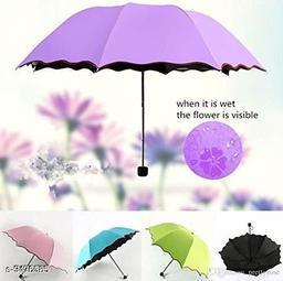 Fancy Magic Umbrella Changing Secret Blossoms Occur with Water Magic Print 3 Fold Umbrella (Multi)