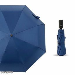 3 Fold Polyster Heavy Duty Umbrella with UV Protection (Multicolor)
