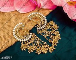 Gold Plated American Diamond Earrings For Women