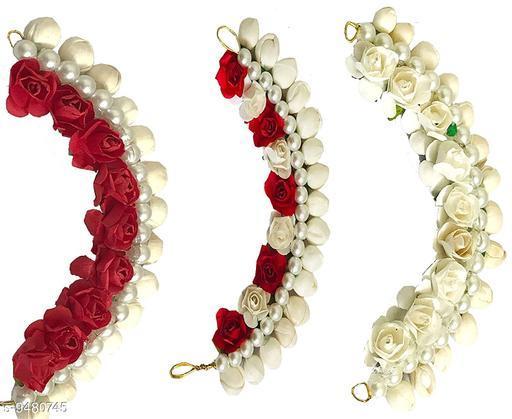 Trendy Women's Multicolor  Floral Gajra Juda Hair Accessories