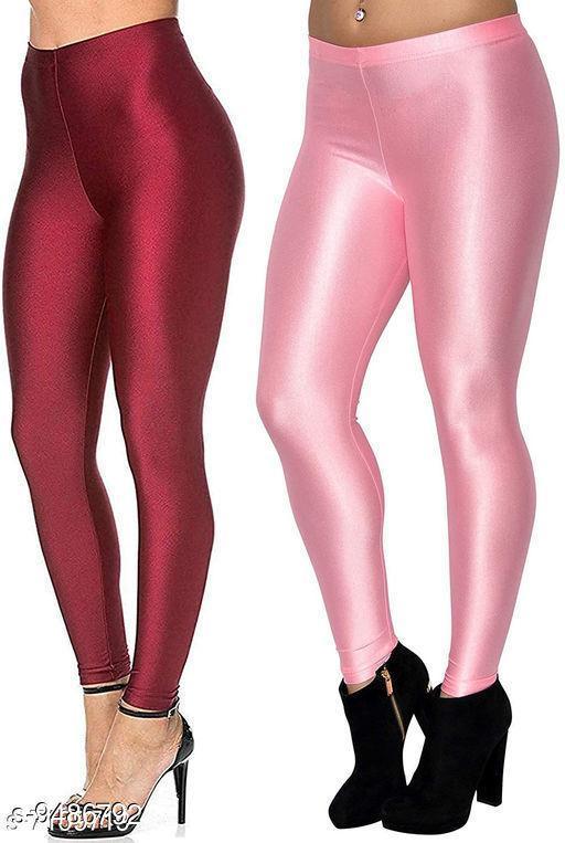 Beautiful Shiny Skiny Satin Legging - Combo