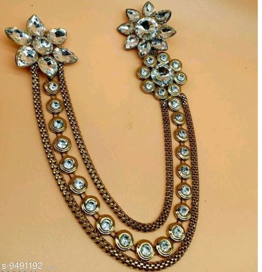 Apparel Accesories Jewellery Designer Broches  *Base Metal* Lac  *Sizes Available* Free Size *    Catalog Name: Attractive Women Jewellery Accessories CatalogID_1670438 C72-SC1089 Code: 144-9491192-