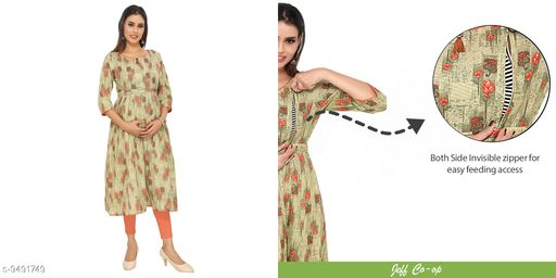 Maternity Wear Dummy Shape Maternity cum Feeding Kurti  *Fabric* Cotton  *Combo of* Single  *Sizes*  M  *Sizes Available* M *    Catalog Name: Aagyeyi Voguish Kurtis CatalogID_1670570 C74-SC1012 Code: 248-9491749-