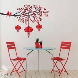 Navratri/Red - Trendy Elegant PVC Vinyl Wall Sticker