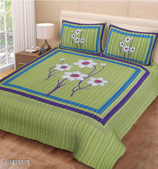 Bedsheets Navratri/Green - Cozy Bedsheet  *Sizes*  Queen  *Sizes Available* Queen *    Catalog Name: Classic Attractive Bedsheets CatalogID_1670975 C53-SC1101 Code: 484-9493517-