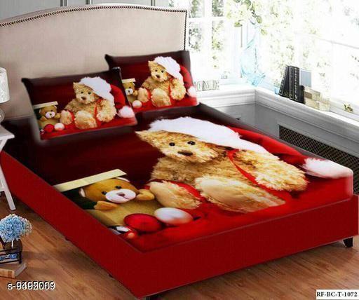 Navratri/Red - Trendy Velvet 105 x 95 Double Queen Bed Sheet