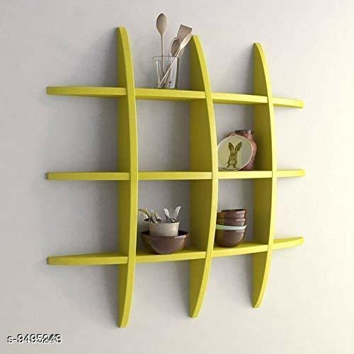 Shelves Navratri/Yellow - Decorative MDF Wall Shelves  *Pack* Pack of 1  *Sizes Available* Free Size *    Catalog Name: Classy Wall Shelves CatalogID_1671369 C127-SC1622 Code: 628-9495243-