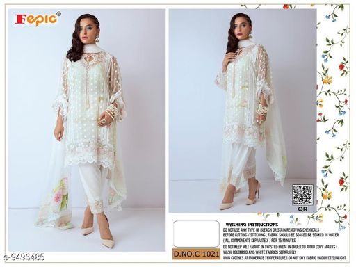 Beautiful Trendy Aagam fashionanle dress materials