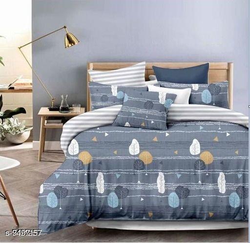 Bedsheets Navratri/Grey - Graceful Attractive Bedsheet  *Sizes*  Queen  *Sizes Available* Queen *    Catalog Name: Elegant Classy Bedsheets CatalogID_1671810 C53-SC1101 Code: 715-9497157-