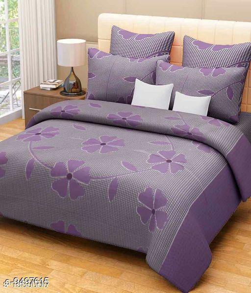 Bedsheets Navratri/Purple - Designer Microfiber Double Bedsheet  *Sizes*  Queen  *Sizes Available* Queen *    Catalog Name: Elite Attractive Bedsheets CatalogID_1671906 C53-SC1101 Code: 033-9497615-