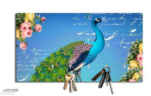 Navratri/Blue - Attractive Wooden Key Holder