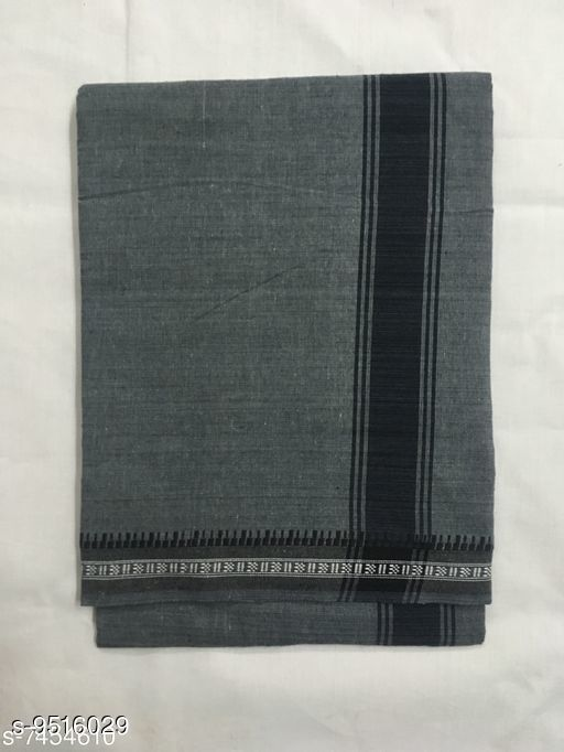 Dhotis, Mundus & Lungis Colour Dothi-Grey  *Fabric* Cotton  *Sizes*  Free Size  *Sizes Available* Free Size *    Catalog Name: Unique Men Dhotis, Mundus & Lungis CatalogID_1676354 C66-SC1204 Code: 702-9516029-