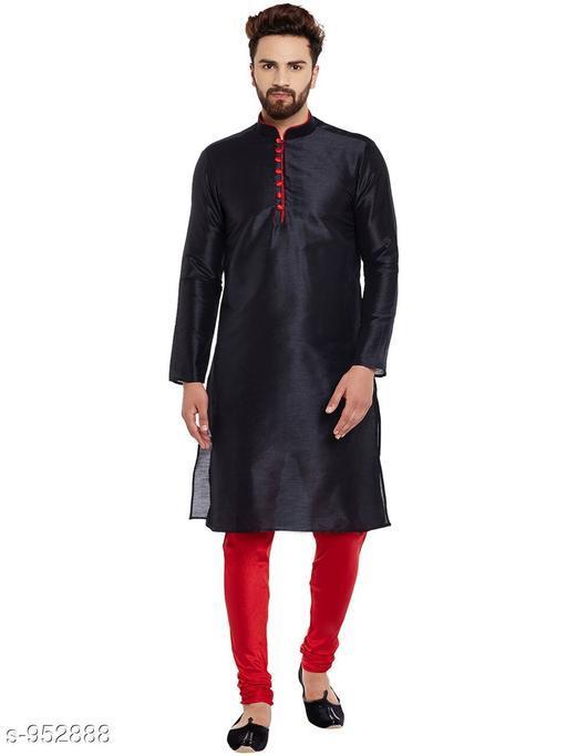 Kurta Sets Traditional Cotton Blend Men's Kurta Pyjama Set  *Fabric* Kurta- Cotton Blend, Pyjama- Cotton Blend  *Sleeves* Kurta- Full Sleeves Are Included  *Size* Kurta- S, M, L, XL, XXL (Refer Size Chart For Details), Pyjama- S- 28 in, M- 30 in, L- 32 in, XL- 34 in, XXL- 36 in         *Length* Kurta- Refer Size Chart, Pyjama - Up To 50 in  *Description* It Has 1 Piece Of Men's Kurta and 1 Piece Of Men's  Pyjama  *Pattern* Solid  *Sizes Available* S, M, L, XL, XXL *    Catalog Name: Men's Ethnic Fancy Kurta Pyjama Sets Vol 3 CatalogID_112579 C66-SC1201 Code: 767-952888-