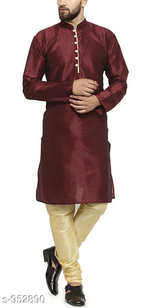 Kurta Sets Traditional Cotton Blend Men's Kurta Pyjama Set  *Fabric* Kurta- Cotton Blend, Pyjama- Cotton Blend  *Sleeves* Kurta- Full Sleeves Are Included  *Size* Kurta- S, M, L, XL, XXL (Refer Size Chart For Details), Pyjama- S- 28 in, M- 30 in, L- 32 in, XL- 34 in, XXL- 36 in         *Length* Kurta- Refer Size Chart, Pyjama - Up To 50 in  *Description* It Has 1 Piece Of Men's Kurta and 1 Piece Of Men's  Pyjama  *Pattern* Solid  *Sizes Available* S, M, L, XL, XXL *    Catalog Name: Men's Ethnic Fancy Kurta Pyjama Sets Vol 3 CatalogID_112579 C66-SC1201 Code: 767-952890-