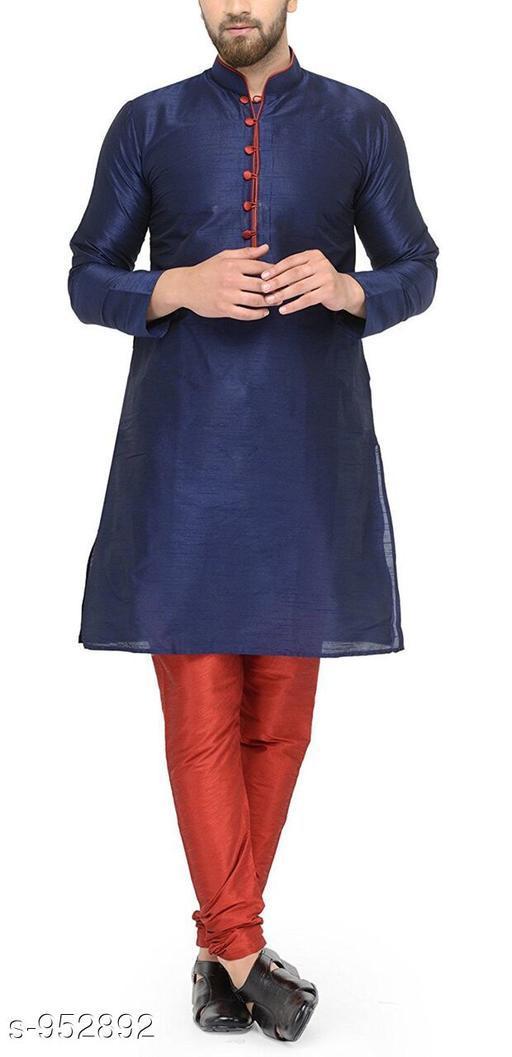 Kurta Sets Traditional Cotton Blend Men's Kurta Pyjama Set  *Fabric* Kurta- Cotton Blend, Pyjama- Cotton Blend  *Sleeves* Kurta- Full Sleeves Are Included  *Size* Kurta- S, M, L, XL, XXL (Refer Size Chart For Details), Pyjama- S- 28 in, M- 30 in, L- 32 in, XL- 34 in, XXL- 36 in         *Length* Kurta- Refer Size Chart, Pyjama - Up To 50 in  *Description* It Has 1 Piece Of Men's Kurta and 1 Piece Of Men's  Pyjama  *Pattern* Solid  *Sizes Available* S, M, L, XL, XXL *    Catalog Name: Men's Ethnic Fancy Kurta Pyjama Sets Vol 3 CatalogID_112579 C66-SC1201 Code: 767-952892-