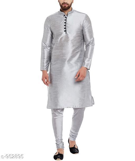 Kurta Sets Traditional Cotton Blend Men's Kurta Pyjama Set  *Fabric* Kurta- Cotton Blend, Pyjama- Cotton Blend  *Sleeves* Kurta- Full Sleeves Are Included  *Size* Kurta- S, M, L, XL, XXL (Refer Size Chart For Details), Pyjama- S- 28 in, M- 30 in, L- 32 in, XL- 34 in, XXL- 36 in         *Length* Kurta- Refer Size Chart, Pyjama - Up To 50 in  *Description* It Has 1 Piece Of Men's Kurta and 1 Piece Of Men's  Pyjama  *Pattern* Solid  *Sizes Available* S, M, L, XL, XXL *    Catalog Name: Men's Ethnic Fancy Kurta Pyjama Sets Vol 3 CatalogID_112579 C66-SC1201 Code: 626-952895-