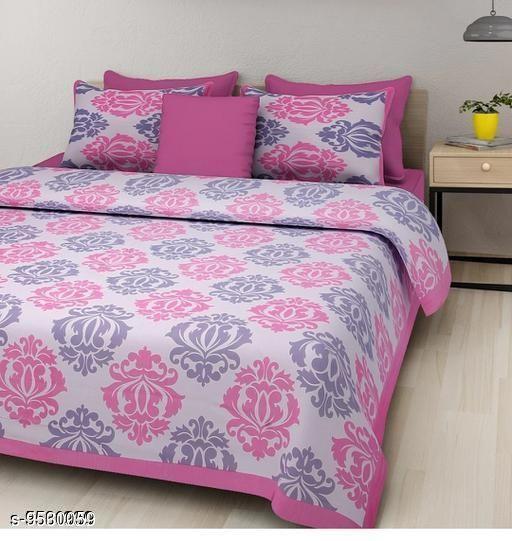 Navratri/White - Trendy Cotton 100 X 90 Double Bedsheets
