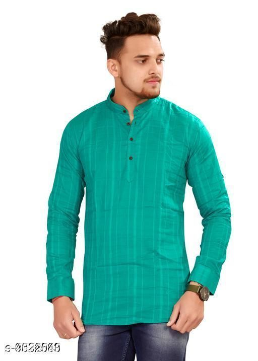 Kurtas Unique Men Kurta  *Fabric* Cotton  *Combo of* Single  *Sizes*   *L (Length Size* 31 in)  *Sizes Available* L *    Catalog Name: Fashionable Men Kurtas CatalogID_1680073 C66-SC1200 Code: 215-9532040-