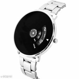 1 PCS :- PAIDU BLACK  Men's and Boy's Quartz Watch with Analogue Display and Stainless Steel StraP