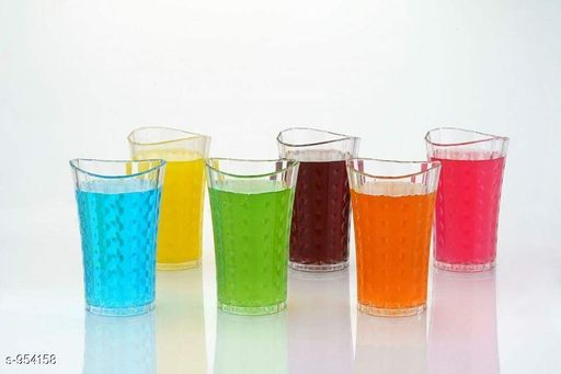 Assorted Small Glasses Pack Of 6