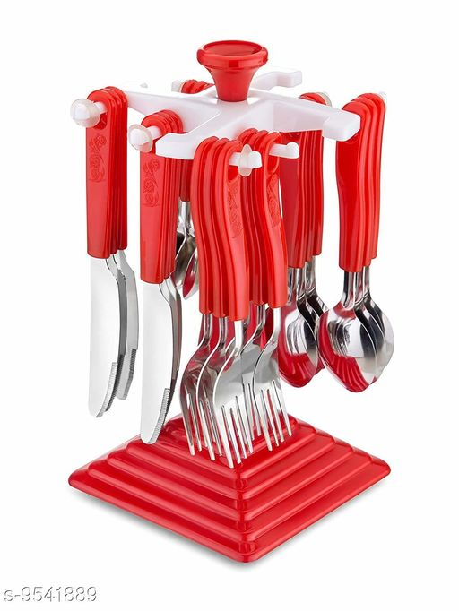 Cutlery 24-PCS-PLASTIC-STAND  *Pack* Pack of 1  *Sizes Available* Free Size *    Catalog Name: Unique Spoons CatalogID_1682514 C135-SC1661 Code: 285-9541889-