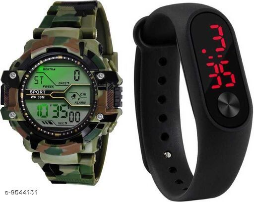 LETEST ANALOGUE MULTICOLOUR WATCH FOR MENS