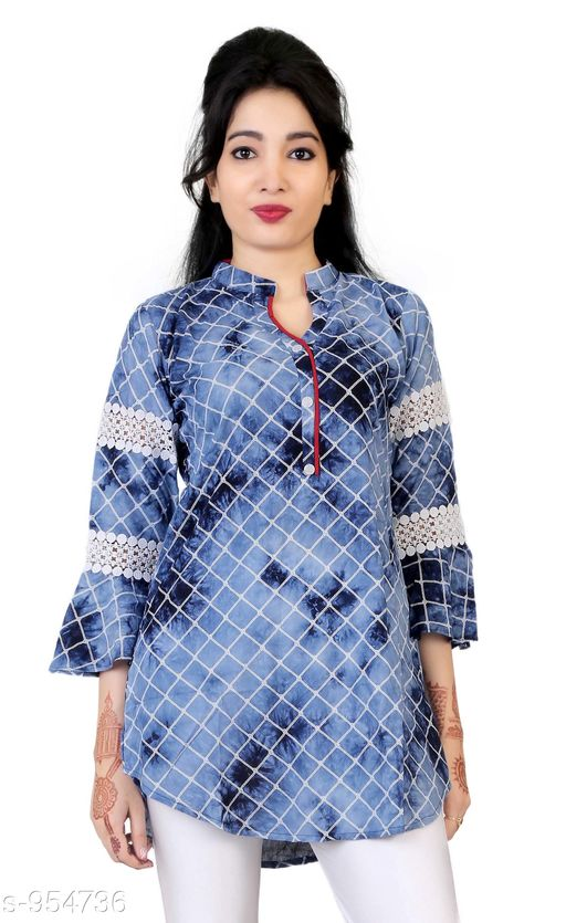 Kurtis & Kurtas Everyday Short Length Women's Kurti  *Fabric* Cotton  *Sleeves* 3/4 Sleeves Are Included  *Size* L - 40 in, XL - 42 in, XXL - 44 in  *Length* Up To 28 in  *Type* Stitched  *Description* It Has 1 Piece Of Women's Short Length Kurtis  *Work* Lace Printed  *Sizes Available* L, XL, XXL   Supplier Rating: ★3.8 (721) SKU: AGSPL-3266W-KT-DARKBLUE Shipping charges: Rs1 (Non-refundable) Pkt. Weight Range: 300  Catalog Name: Chintana Everyday Short Length Women's Kurtis Vol 1 - appex garments Code: 066-954736--458