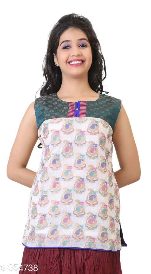 Kurtis & Kurtas Everyday Short Length Women's Kurti  *Fabric* Cotton Sik  *Sleeves* Sleeves Are Not Included  *Size* L - 40 in, XL - 42 in  *Length* Up To 26 in  *Type* Stitched  *Description* It Has 1 Piece Of Women's Short Length Kurtis  *Work* Printed  *Sizes Available* L, XL   Supplier Rating: ★3.8 (721) SKU: AGSPL-3270W-KT-GREEN-WHITE Shipping charges: Rs1 (Non-refundable) Pkt. Weight Range: 300  Catalog Name: Chintana Everyday Short Length Women's Kurtis Vol 1 - appex garments Code: 515-954738--786